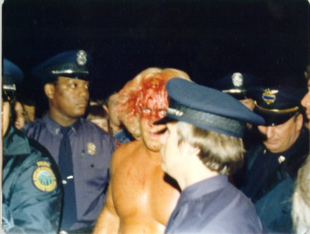 Ric Flair Surrounded by Cops