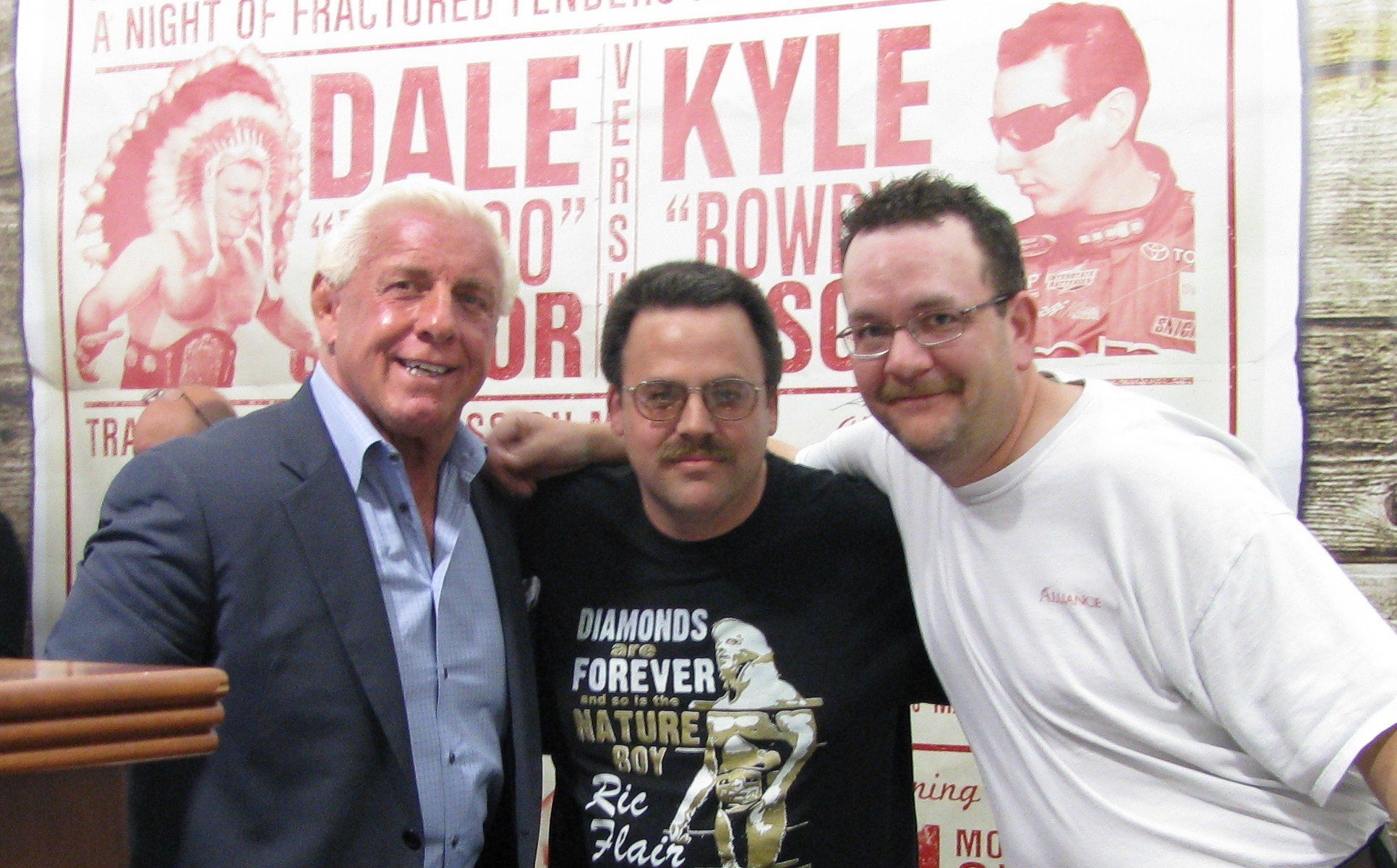 Me(Webmaster David) with Eric Brown and Ric Flair