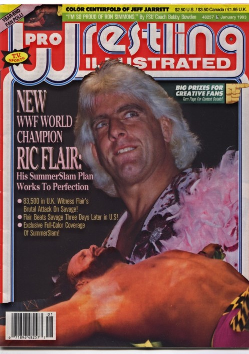 Ric Flair After He Defeated Randy Savage For The World Title