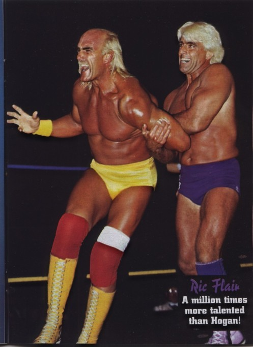 Ric Flair Showing Hulk Hogan How To Wrestle