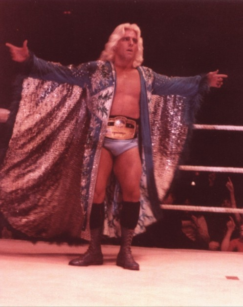 Ric Flair With His Original NWA World Title