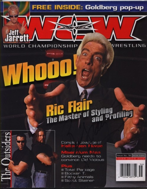 Ric Flair on the Cover of WCW Magazine