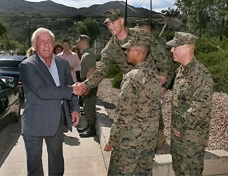 Ric Flair at the Premiere of The Marine