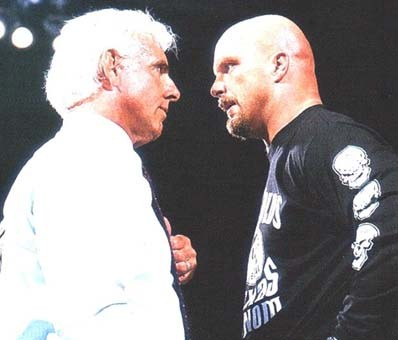 Ric Flair and Stone Cold Steve Austin Face to Face