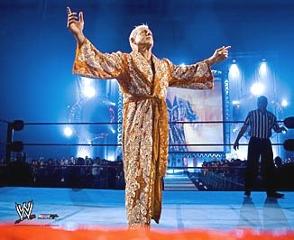Ric Flair In A Gold Robe