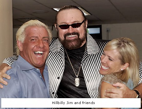 Ric Flair with His Gorgeous Wife Tiffany and Hillbilly Jim
