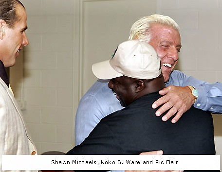 Ric Flair and KoKo B.Ware With Shawn Michaels