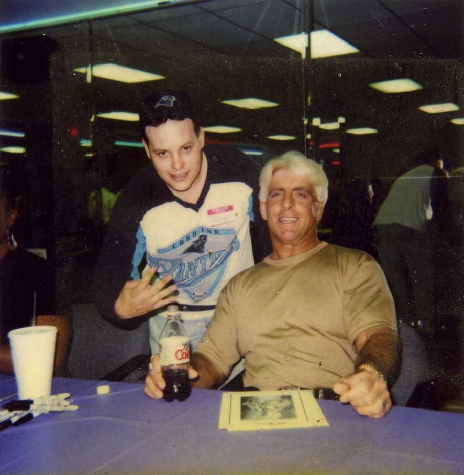 Harry Houston and Ric Flair in 1998