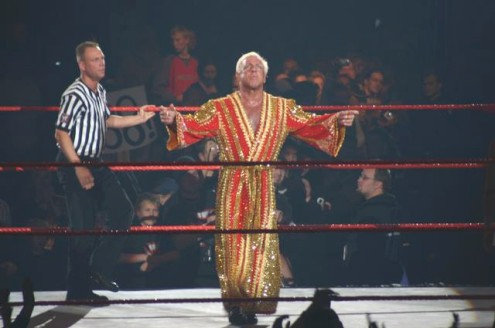 Ric Flair Getting Ready For Action