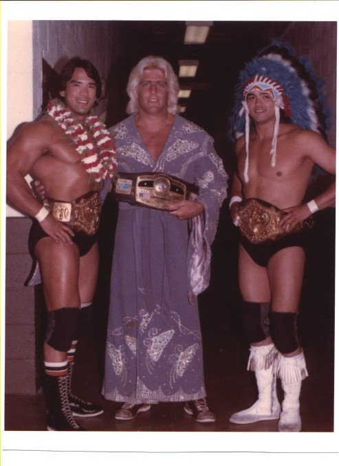 Ric Flair With Ricky Steamboat and Jay Youngblood