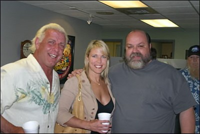 Ric Flair and His Beautiful Wife Tiffany at The John Boy And Billy Studios