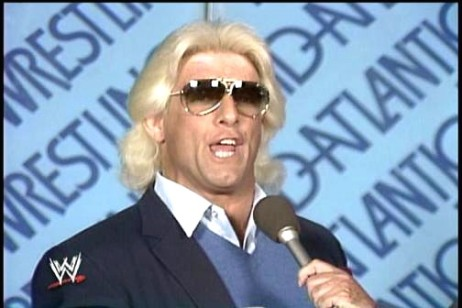 Ric Flair during a Interview From 1985