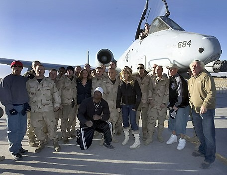 The Troops In Afghanistan and Other WWE Wrestlers Going Woooo With The Nature Boy