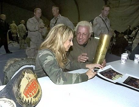 Ric Flair Talking to Trish Stratus