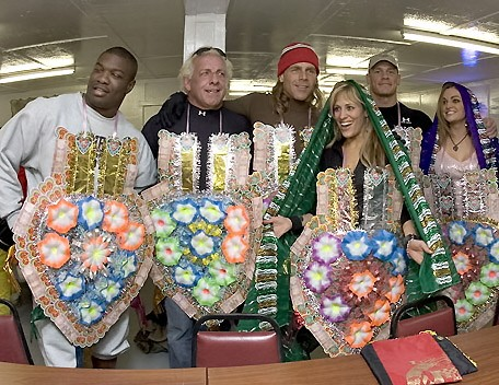 Ric Flair with other WWE Superstars