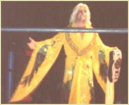 Ric Flair from 1978 in his Peacock Robe