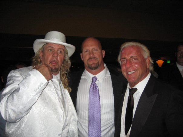 Ric Flair with Michael Hayes and Steve Austin
