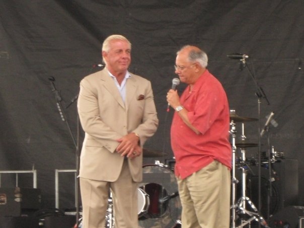 Mayor John Rhodes with Ric Flair