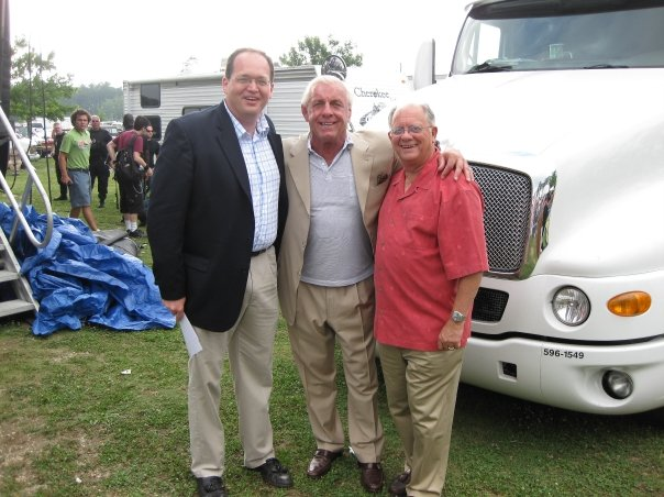 Ric with Randal Wallace and Mayor John Rhodes