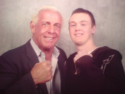 Michael with Ric Flair