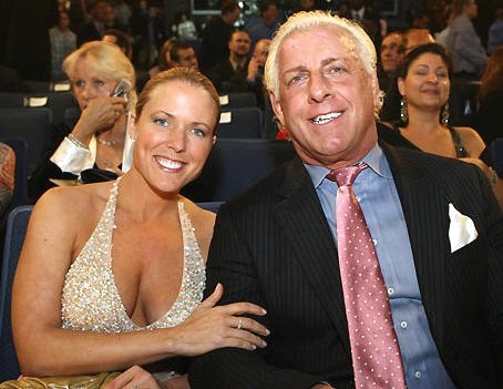 Ric Flair And Tiffany When They Attended The WWE Hall of Fame Ceremony