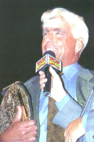 Ric Flair from 1999 After He Defeated Hulk Hogan For The World Heavyweight Title