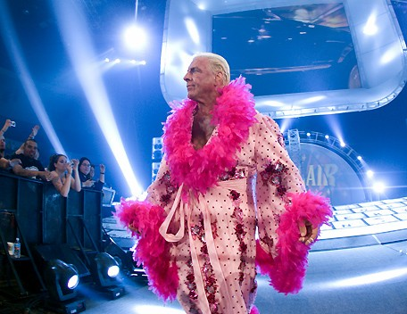 Ric Flair In A Beautiful Robe Looking As Only He Can Look