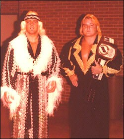 World Tag Team Champions Ric Flair And Greg Valentine From 1977