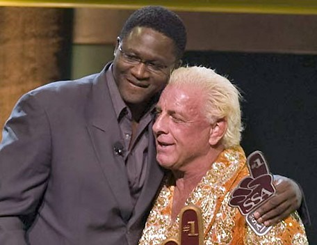 Dominique Wilkins Congratulating Ric Flair