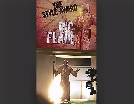 Ric Flair Winning the Style Award