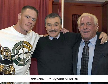 Ric Flair With Burt Reynolds and John Cena