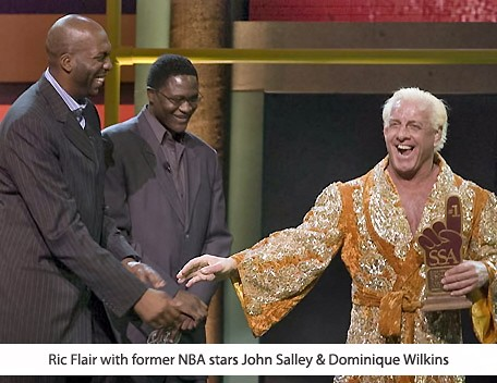 John Salley and Dominique Wilkins With Ric Flair