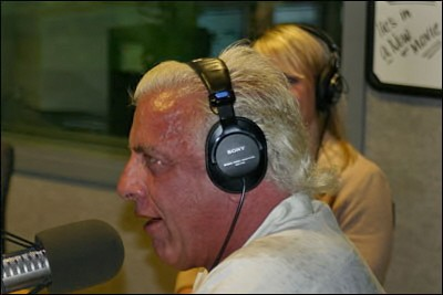 Ric Flair With Headphones On