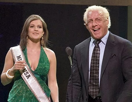Ric Flair With Miss Usa Chelsea Cooley