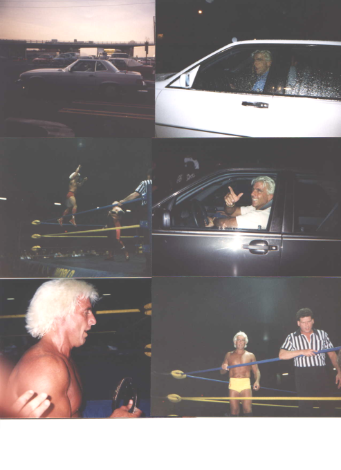 Ric Flair Driving His Mercedes Benz And In Action